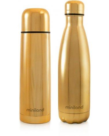 Set termo Mybaby&me de Miniland en Dorado