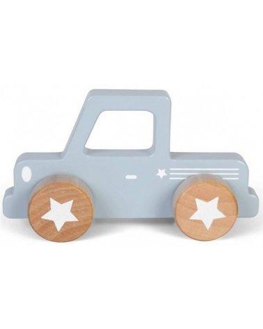 Vehículo de madera de juguete de Little Dutch Pickup Azul
