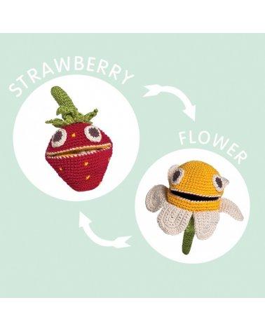 Mordedor Reversible Flor Fresa