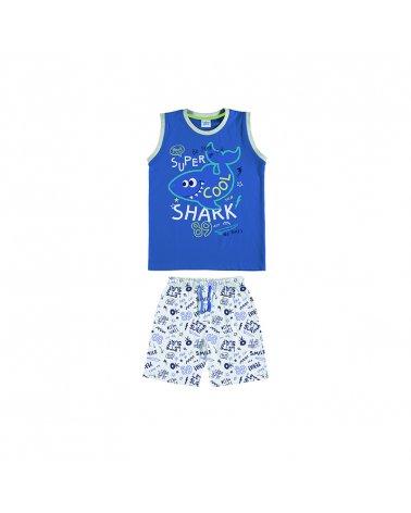 """Pijama Inf. Niño S/M-P/C """"Shark Cool"""" Tobogan"""