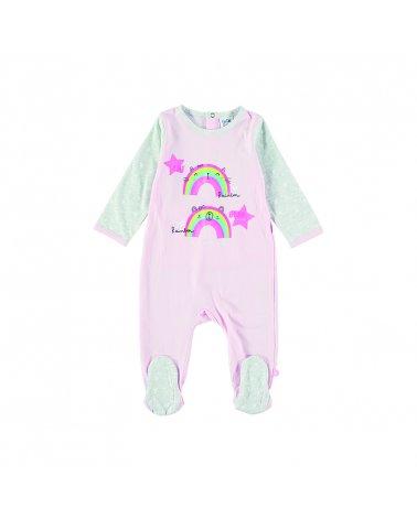 """Baby Girl Romper M/L """"Rainbow"""" Yatsi"""