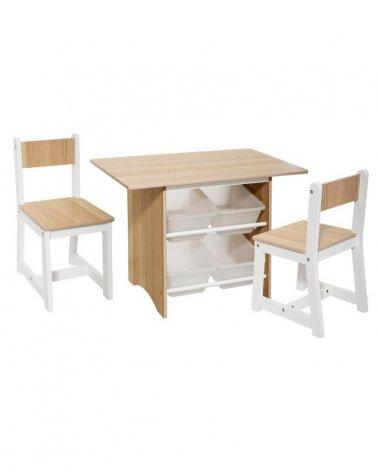 Mesa Infantil con almacenaje y 2 sillas de Atmosphera