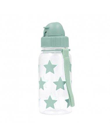 Botella de Plástico con pajita Estrellas de Tutete Sage