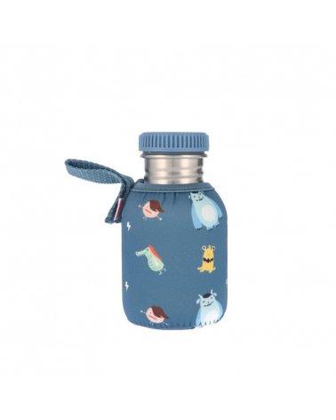 Botella de Acero Inoxidable con Funda para niños de 350ml de Tutete Little Monsters