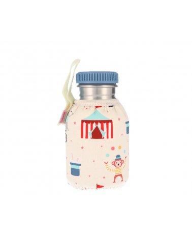 Botella de Acero Inoxidable con Funda para niños de 350ml de Tutete Circus